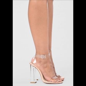 Like New** Fashion Nova Glass Slipper